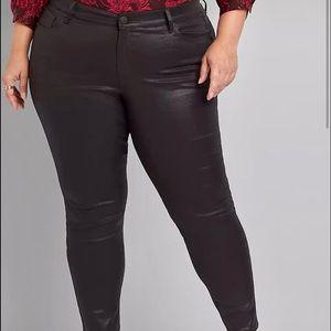 Lane Bryant skinny faux leather pants six 16 plus